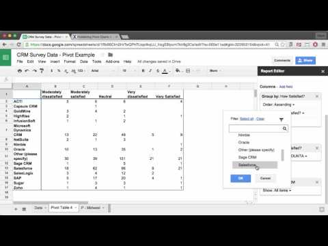 Create Pivot Tables and Charts in Google Sheets