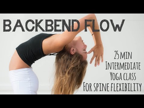 25 min Backbend Flow.  Yoga class for spine flexibility with Sara Ticha.