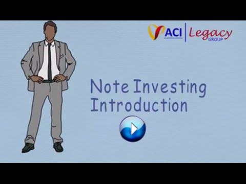 Introduction To Real Estate Note Investing