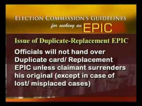 How to Obtain EPIC   Elector Photo Identity Card