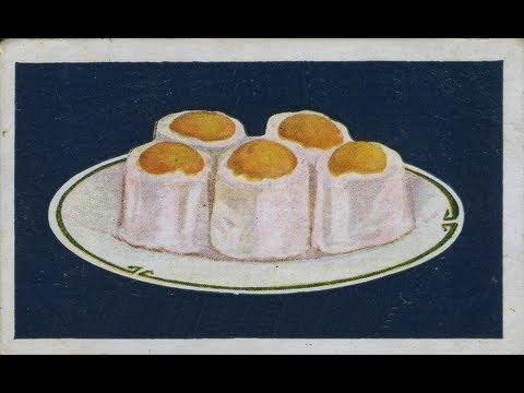 Vintage 1920's Cooking Recipes Pt4 -  Scotch Scones Blancmange Eggs - 1923 Co-op Trade Cards