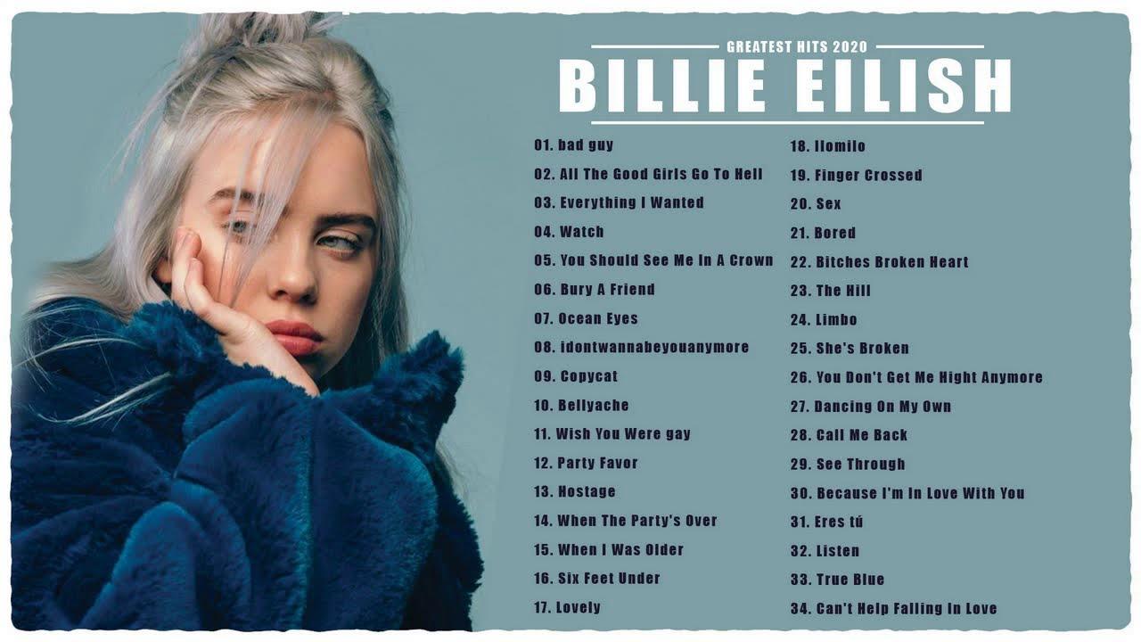 Grandes éxitos de Billie Eilish - Las mejores canciones de Billie Eilish