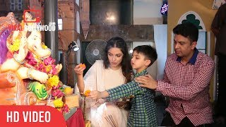 Bhushan Kumar With Wife Divya Khosla Kumar At Ganesh Aarti   T-series
