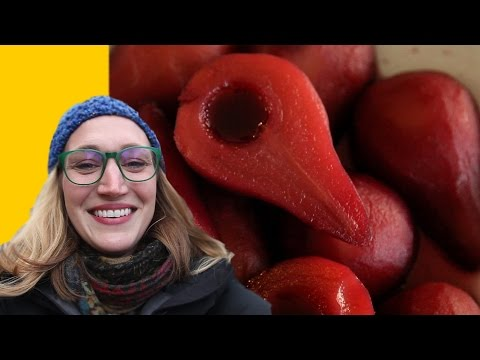 Red Wine Poached Pears Recipe & An Intentional Autumn