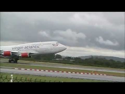Virgin Atlantic 747 departing Manchester