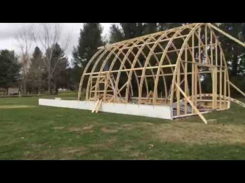 Bow roof Boat shed with Gothic arch truss time lapse part 2: Sea Dreamer Project