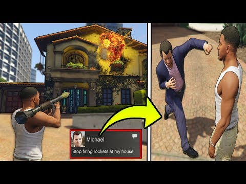 What Happens if we DESTROY MICHAEL'S HOUSE in Front of MICHAEL?