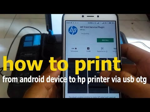 how to print from android phone to hp printer via usb otg