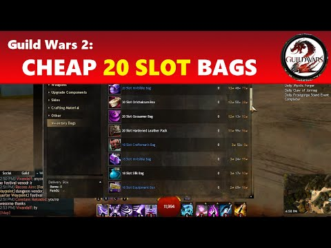 Guild Wars 2: Cheap 20 Slot Bags (Under 5 Gold!)