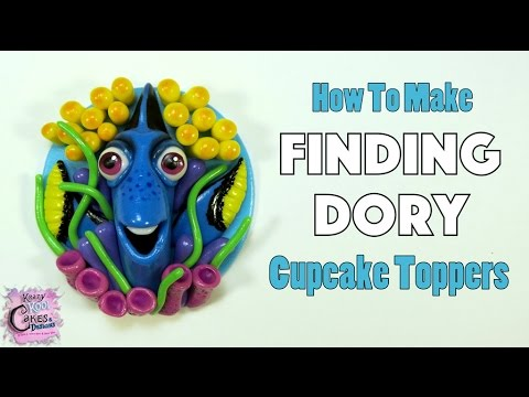 Finding Dory Cupcake Toppers FUN HOW TO