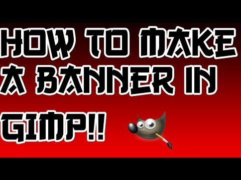 How to Make A Youtube Banner - GIMP - Easy/Simple