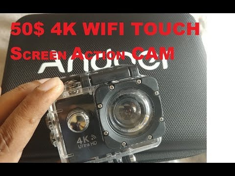 Andoer AN9000R 4K HD 50$ WIFi ACTION CAM UNBOXING REVIEW
