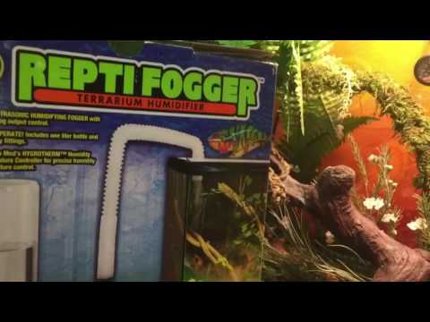 Today I show you how to take a Chameleon's terrarium from 50% humidity to 85% humidity in 10-mins