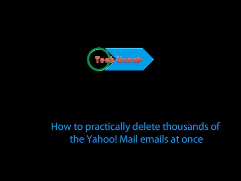 How to effectively delete thousands of Yahoo! Mail emails at once in bulk easily