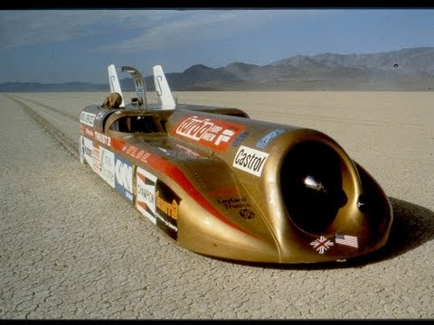 The world's two fastest men on driving at 633 mph in Thrust2