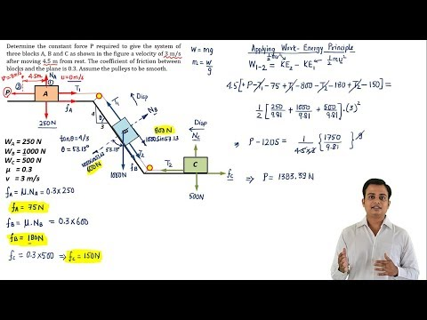 Work Energy Principle | Dynamics | Problem 6