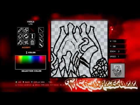 WWE 2K14 Paint Tools Tutorial INK #3 - HOW TO MAKE!!! Diamond Heart LOGO !! (Speed Art) HD