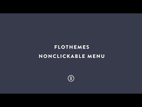 Flothemes :: Non Clickable Menu