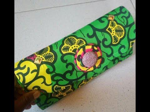 Ankara Clutch purse tutorials - no sew