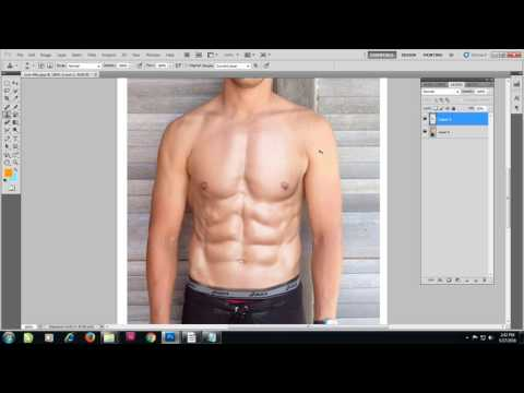 Photoshop tutorial Creating six pack abs.