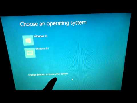 How to change the default Operating System