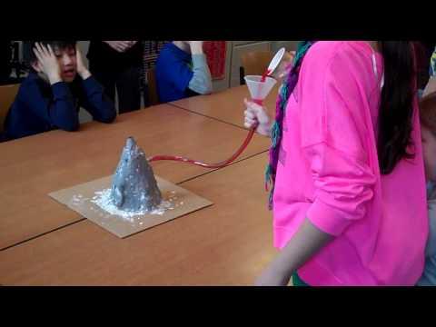 AIS Grade 4 Volcano Model Eruption