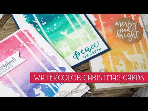 Easy Watercolor Christmas cards & tips for mass producing with MISTY