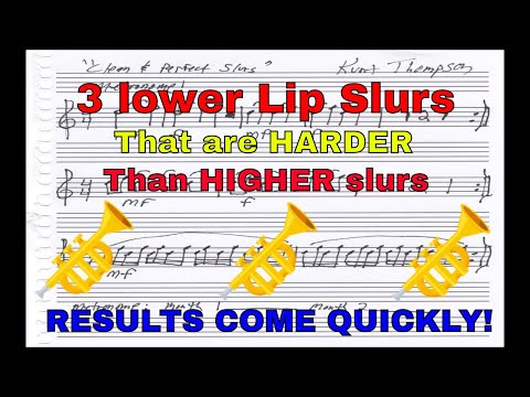 Trumpet Lesson Video on How To Expand Range and Increase Flexibility with 3 simple lip slurs!