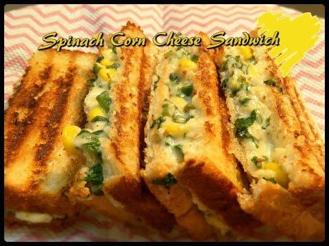 Spinach Corn Sandwich by KHANA MANPASAND