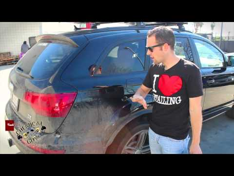 Waterless Washing HEAVY DIRT & ROAD GRIME - Chemical Guys ECOSMART Audi Q7 DIRTY