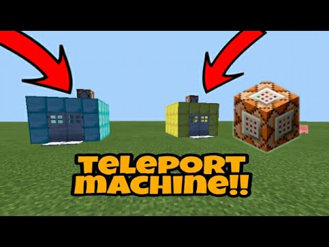How to make a working teleport machine in Minecraft pe using command block!!!!