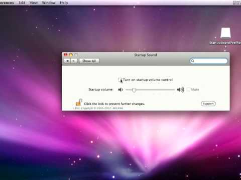 How to turn off (disable) Mac's startup sound !