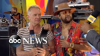 Catching up with Sting and Shaggy on