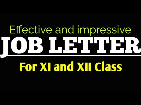 Job letter for 11th and 12th class