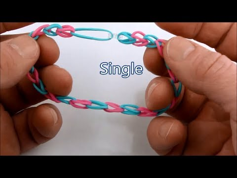 How to make the Single bracelet pattern on the Rainbow Loom