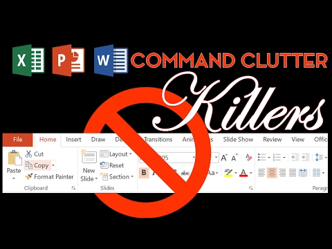 Microsoft Office Command Clutter Killer Shortcut