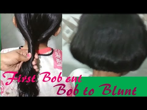 Easy pony  Bob cut  and then  Bob to  blunt cutting on hairs