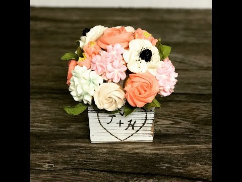 Easy diy cupcake bouquet tutorial! -Buttercream cake decorating