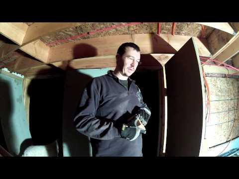 Building Custom Cheap Garage Doors - 120 - My DIY Garage Build HD Time Lapse