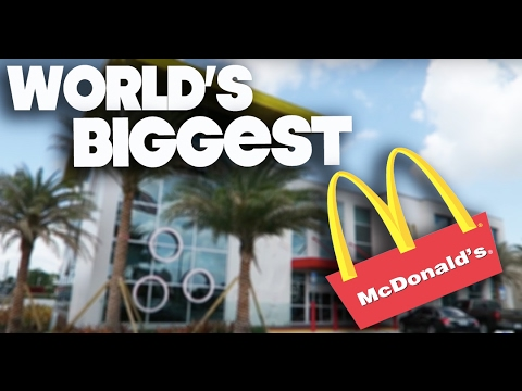 WORLD'S BIGGEST McDONALD'S - ORLANDO FLORIDA