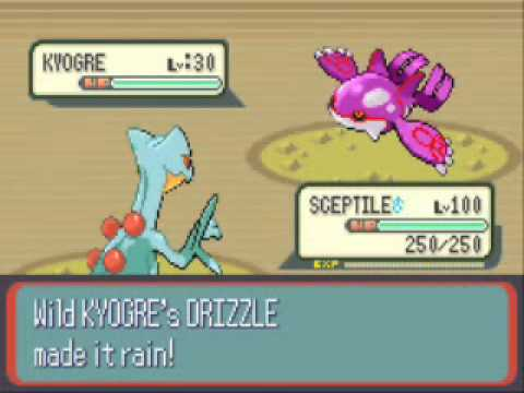 Pokemon Sapphire and Ruby-Catching Shiny Kyogre.