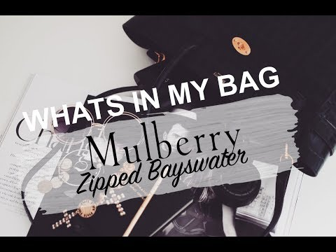 WHATS IN MY BAG | MULBERRY ZIPPED BAYSWATER REVIEW & FIRST IMPRESSIONS | SINEAD CROWE