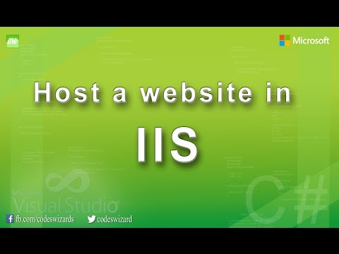 How to host an ASP.NET website in IIS