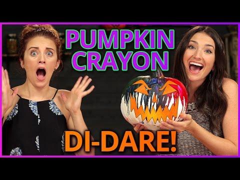 DIY Rainbow Crayon Pumpkins?! | Di-Dare