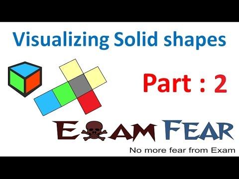 Maths Visualizing Solid Shapes part 2 (2D 3D figures) CBSE Class 7  Mathematics VII