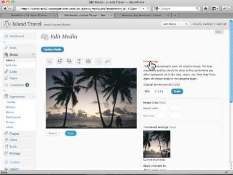 The Image Editor in Wordpress - Wordpress Tutorials