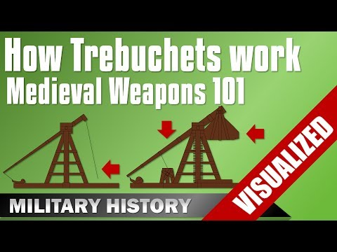 [Weapons 101] Trebuchet - How they work - Traction  & Counterweight Trebuchets Medieval Equipment