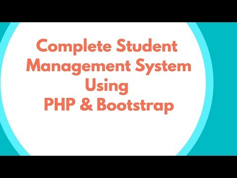 Complete Student Result Management System Using PHP & Bootstrap