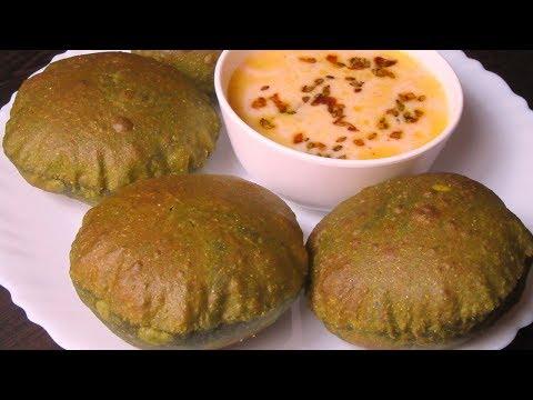 Palak Poori Recipe | पालक पूरी | Palak Puri | Spinach Poori | Masala Palak poori
