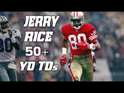 Every Jerry Rice 50+ Yard Touchdown! | #CountdownToKickoff | NFL Highlights